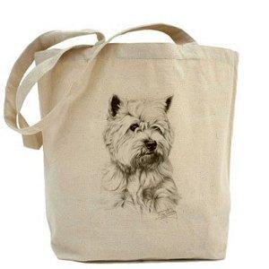 Mike Sibley West Highland Terrier cane tela cotone Shopper (Highland House)