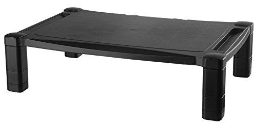 Kantek MS400 Monitor/Laptop-Ständer, höhenverstellbar, 43,2 x 33 x 7,6 cm schwarz