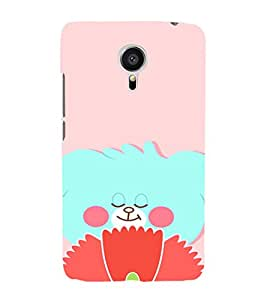 EPICCASE Blue teddy Mobile Back Case Cover For Meizu MX 5 (Designer Case)