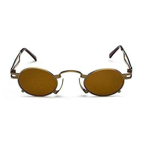 Inlefen Männer Frauen Sonnenbrille Vintage Round Oval Brillen kleine Metallrahmen Sonnenbrille UV400