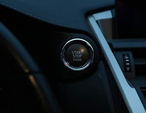 Accessoires de Garniture de Bague de démarrage de Moteur de Voiture en Plastique ABS pour NX200 RX200t CT200H ES200 300H
