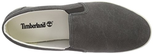 Timberland Newport Bay Canvas Slip On, Slipper Uomo Negro - Black (Black Canvas)