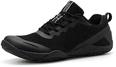 Whitin Women S Minimalist Barefoot Shoes Low Zero Drop Trail Running Camping Wide Toe Box For Female Lady Fitness Gym Workout Sneaker Tennis Lightweight Walking Athletic Black Size 9 Buy Online At Low