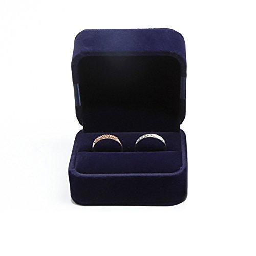 Hosaire 1x Halskette Ohrringe Ringe Anhänger Schmuckkasten Mode Flanell Damen Rings Schmuckschatullen Aufbewahrungsbox Multifunktions Schmuck Ketten Jewellery Storagebox Geschenkbox