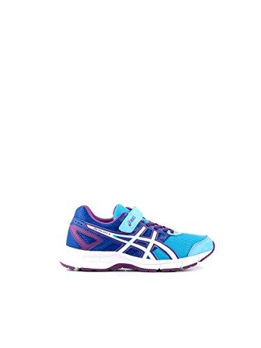ASICS-Schuhe Running Pre Galaxy 8PS, Kinder, Blau/Violett, Jungen Baby Jugendliche, Soft Blue/White/Purple, 1,5 USA / 33 EUR