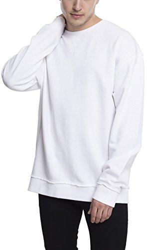 Urban Classics TB1590 Herren Pullover Oversized Open Edge Crew White, M (White Army Sands)