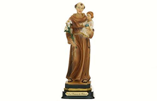 Lote de 2 figuras San Antonio de Padua 20 cm