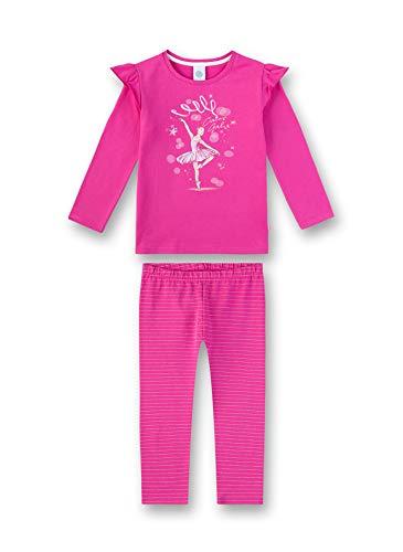 Sanetta Mädchen Pyjama Zweiteiliger Schlafanzug, Rosa (Raspberry Rose 3972), (Herstellergröße: 128)
