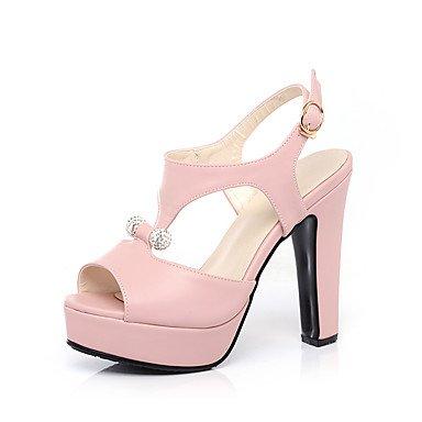 LvYuan Da donna-Sandali-Casual Serata e festa Formale-Altro-Quadrato-PU (Poliuretano)-Blu Rosa Bianco Beige Pink