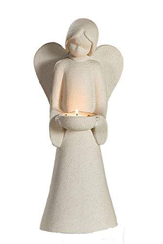 Gilde Engel 'Joao' mit Teelicht, 40 cm, sand
