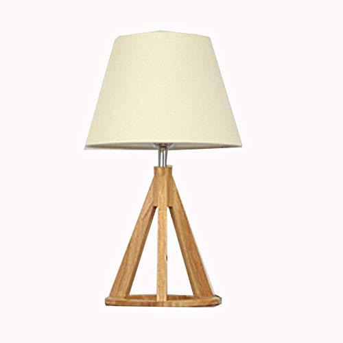 LSLTD Mitte des Jahrhunderts Moderne Akzent Tischlampe Wohnzimmer Familie Schlafzimmer Nachttisch DREI Fuß Tischlampe natürliche Holz Nachttischlampe (Color : Black) -