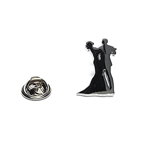 Stylised Ballroom Dancing Couple Silhoutte Lapel Pin Badge X2AJTP496