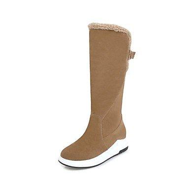 RTRY Scarpe Donna Fleece Inverno Novità Snow Boots Fashion Stivali Stivali Tacco A Cuneo Punta Tonda Mid-Calf Scarponi Per Abbigliamento Casual Arrossendo Rosa US6 / EU36 / UK4 / CN36