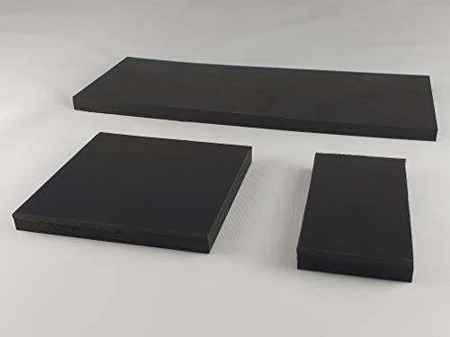 2 Stück Gummimatte Gummiplatte 80x80mm / 8mm Stärke Antivibrationsmatte für z.B. Waschmaschine/Hochleistungsmixer