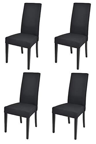 Toychairs Set 4 sedie Chiara Eleganti e Moderne per Cucina ristoranti Bar e Sala da Pranzo con Struttura Legno di faggio Seduta e Schienale Imbottiti