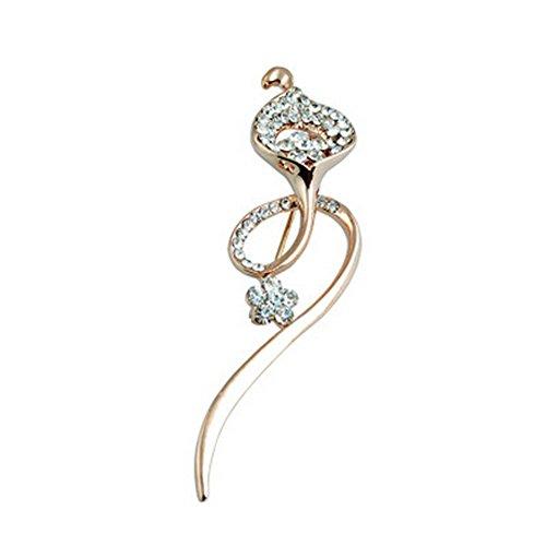 2PCS Femmes Broches élégantes et Pins avec cristaux clairs, Forme Fleur