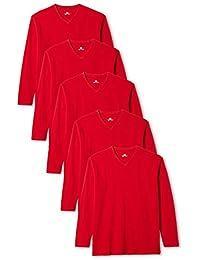 4bb1f0b7ff Amazon.es  Rojo - Camisetas de manga larga   Camisetas
