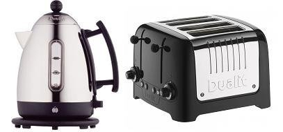 DUALIT 1.5 LITRE BLACK JUG KETTLE (72400) & 4 SLICE LITE TOASTER (46205) COMBINATION SET