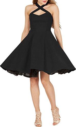 ie' Classic Clarity Kleid im 50er-Jahre-Stil (Schwarz, EUR 40 - M) (50er Jahre Stil Kleid Bis)