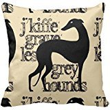 Percentuale 18 cuscino nero stilizzato Greyhound Personalized Monogram Pillow