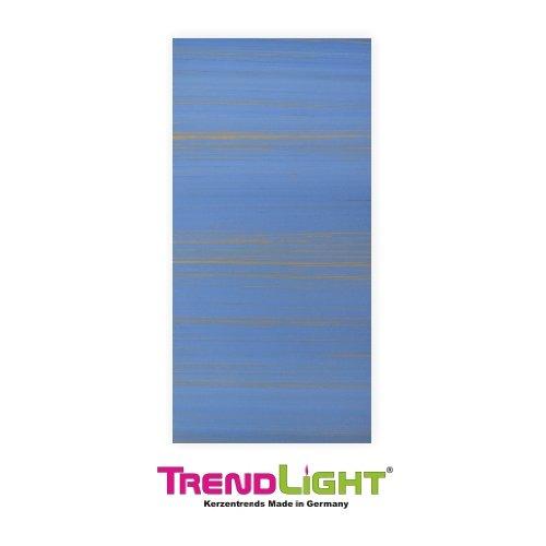 Verzierwachsplatten - Wachsplatten gold/hellblau 2 Stück 20x10 cm