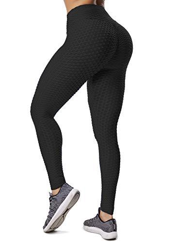 INSTINNCT Damen Slim Fit Hohe Taille Sportshort Lange Leggings mit Bauchkontrolle Schwarz S - Schlank Stretch Leggings
