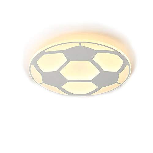 48W LED Deckenleuchte Kreativ 3D Fußball Football Thema Design Modern Deckenlampe für Club Kinder Junge Schlafzimmer Esszimmer Wohnzimmer Bar Spielzimmer Kindergarten Beleuchtung Runden Lampenschirm , D52CM, Dimmbar Mit Fernbedienung