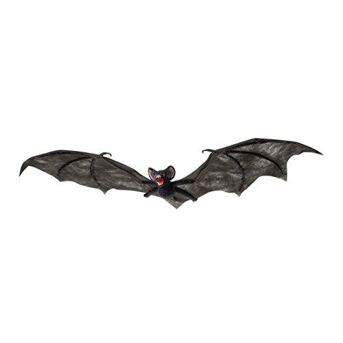 NET TOYS Große Fledermaus Figur Halloween Dekoration schwarz 74 cm Fledermaus Hängedeko Bat Deko Raumdeko