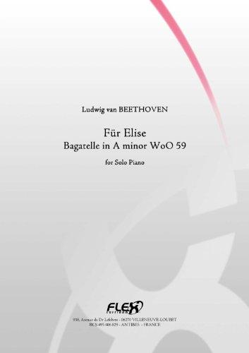 PARTITION CLASSIQUE - Lettre à Elise - L.v. BEETHOVEN - Piano Solo