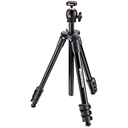 Manfrotto Compact Light Kit de Trépied + Rotule Ball 4 sections Noir