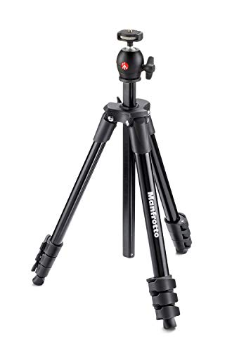 Manfrotto Compact Light - Trípode completo, negro