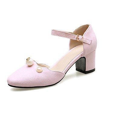 LvYuan Da donna-Sandali-Matrimonio Ufficio e lavoro Formale Casual Serata e festa-D'Orsay-Basso-Finta pelle-Nero Rosa Grigio Pink