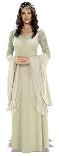 Rubie's 3 56031 - Herr der Ringe Queen Arwen Deluxe Kostüm, Größe M/L, creme/elfenbein (Arwen Kleid Erwachsene Kostüme)