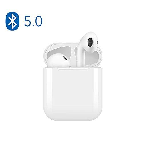 Écouteurs Bluetooth, Casque Bluetooth Ecouteurs sans Fil Bluetooth, Casque Audio avec Station de Recharge Convient à la Plupart des Smartphones