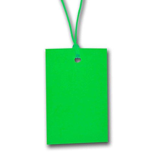 Grün Zeichenfolge Preisschild Etikett Karte Hang Tag 70mm x 45mm (100er Pack)