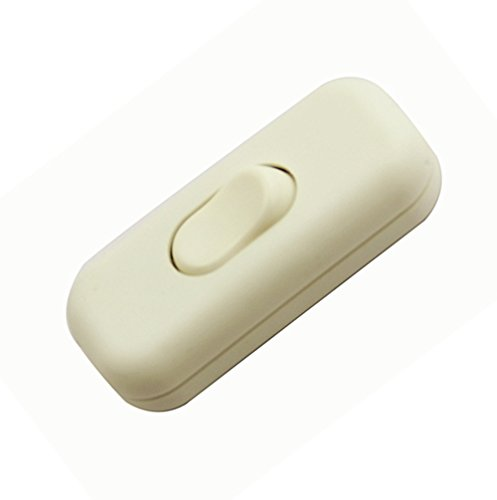 Zwischenschalter / [1 Pack] SFTlite Weißer Inline Schalter Verwenden Sie Inline 2 oder 3 Core Schnur zwischenschalter, Leuchtenschalter Light / Lampe Schalter (Inline-lampe Schalter)
