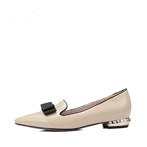 Printemps/Eté fashion Lady strass plat pointus chaussures/Joker simple arc A