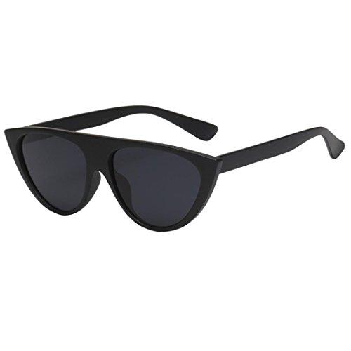Dragon868 Retro Polarisierte Katzenaugen Sonnenbrille For Damen UV400 Reflektierenden Spiegel (C) (Oval Spiegel Elfenbein)
