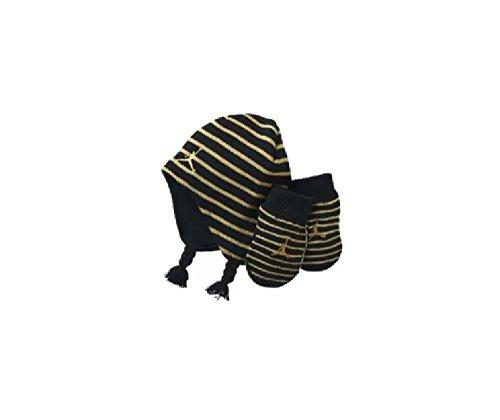 NIKE Jordan Baby Boy's 12/24M Striped Knit Beanie Hat & Mittens Set
