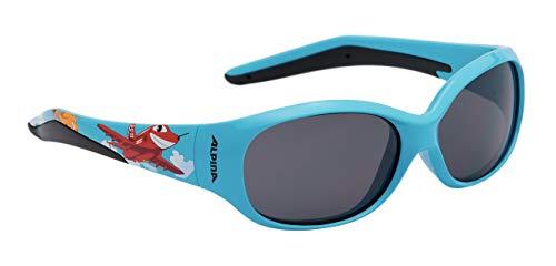 Alpina Kinder Sonnenbrille Line FLEXXY cyan plane, One Size