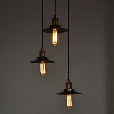 Max 60W Lampe bietet die traditionelle/Klassiker/Oldtimer/Schüssel Malerei Miniatur Metall Stil Schlafzimmer/Esszimmer/Arbeitszimmer, 110-120v -