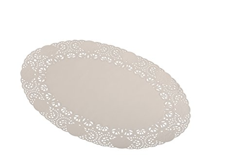 SemyTop ST-3092 Tortenspitze, Oval, Weiß, 21 x 32 cm, 100 Stück Ovale Torte
