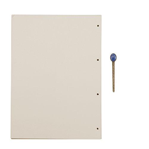 A4 4 Löcher Refill Leeres Papier, 4-Ring Binder 100 Blatt / 200 Seiten für A5 Nachfüllbar Tagebuch Notizbuch Skizzenbuch Journal Einsätz (Magazin 3-ring Binder)
