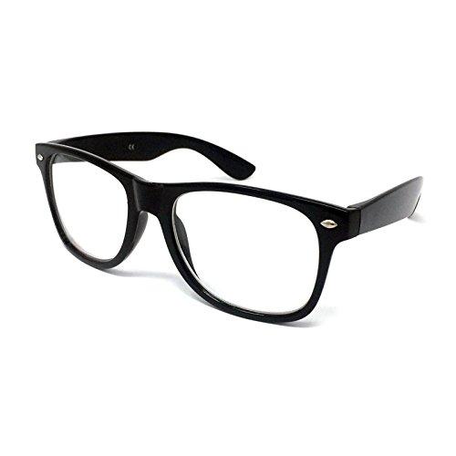Stil Fancy Kleid Gläser–Geek Nerd Retro Hipster Sexy Schulmädchen Outfit Vintage schwarz Einheitsgröße (Nerds Kostüm Kleid)