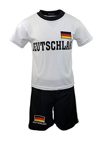 Unbekannt Fussball Fan Set Deutschland Germany Trikot + Shorts, Gr. 152/158, JSn882.14