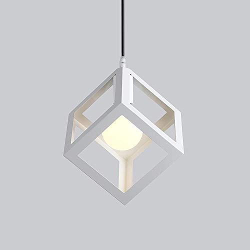 LYDB Creative Square Cage Luces Colgantes Metal Geométrica