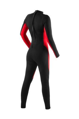 Pure Long Neoprenanzug, rot/schwarz - 4