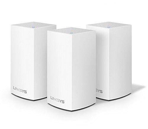 Linksys Velop Intelligent Mesh - Sistema WiFi para el hogar (paquete de 3 nodos AC3600, Banda Dual, hasta 4 habitaciones, instalación fácil, maximiza el alcance y la velocidad Wi-Fi para todos tus dispositivos)
