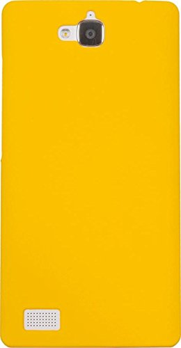 Cubix® Honor 3C Case, Super Slim Hard Back Cover for Huawei Honor 3C Yellow  available at amazon for Rs.199