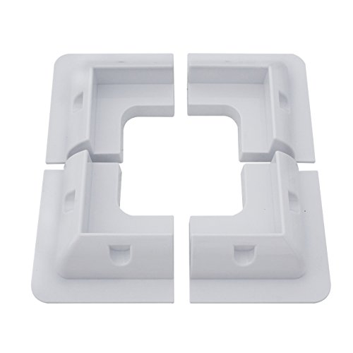 Features Easy Installation, holes should be drilled in each bracket, and corresponding holes in the solar panel frame on each side; then brackets should be fixed to the solar panel using self-tapping screws (not included). Finally, brackets can be bo...